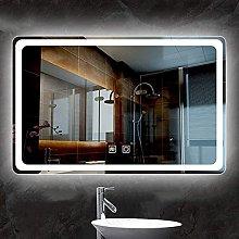 ZBY Rectangle Bathroom Mirror Frameless Wall