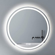 ZBY Round Illuminated Led Bathroom Mirror Dimmable
