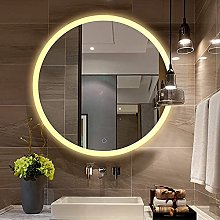 ZBY Wall-Mounted Bathroom Mirror with Led
