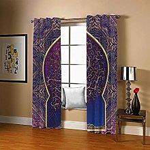 ZCLCHQ 3D Photo Print Curtains Purple & Big Tree