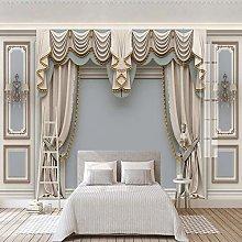 ZCLCHQ 3D Photo Wallpaper Retro & Curtain Mural