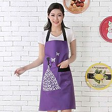 Zcm Apron 1Pcs Striped Waterproof Polyester Apron