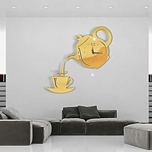 Zcm Wall clock Creative DIY 3D Wall Clock Acrylic