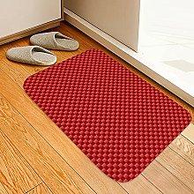 ZCMTD Printed Plaid Door Carpet Kitchen Rugs