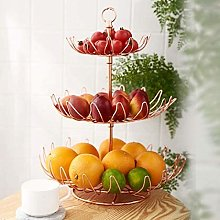 ZCY 3 Tier Fruit Bowl,Mental Fruit Basket Holder