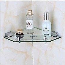 ZCY Bathroom Corner Glass Shelf Storage Rack