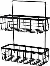 ZCY Bathroom Shelf Organizer Double Storage Basket