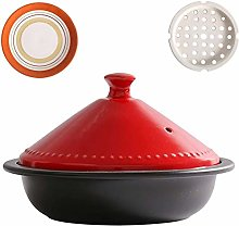 ZCY Moroccan Tagine Pot With Red Lid,ceramic