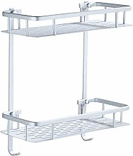 ZCY No Drilling Bathroom Shelf Shelves Aluminum 2
