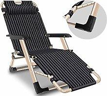 ZCZZ Folding Chairs Adjustable Deck Chair Blue Sun