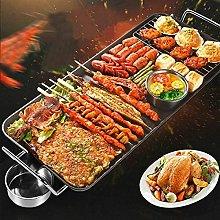 ZCZZ Non-Stick Teppanyaki Grill Pan, 1500W