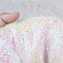 Zdada 1 Yard 3Ft Sequin Fabric by The Yard 3MM