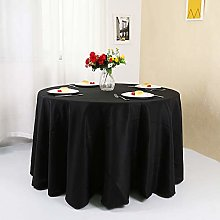 Zdada 132inch Round Table Cloth Party Event Black
