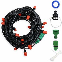 Zdada 15m/50ft Micro Drip Irrigation System for