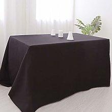 Zdada 60x126-Inch Black Rectangle Tablecloth