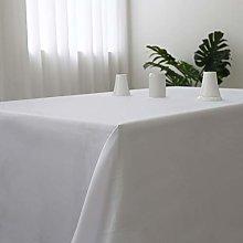 Zdada 60x126-Inch White Rectangle Tablecloth