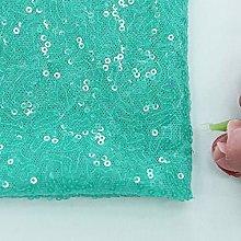 Zdada Aqua Green 1 Yard 3Ft Sequin Fabric by The
