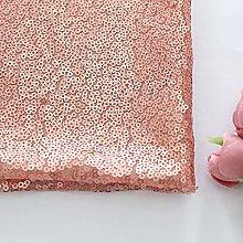 Zdada Blush 3MM 1 Yard Sequin Fabric by The Yard
