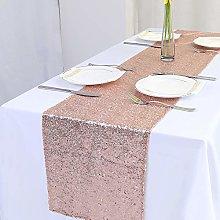 Zdada Christmas Party Table Runner Rose Gold
