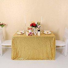 Zdada Glitter Gold Sequin Tablecloth - Rectangle