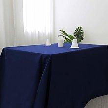 Zdada Navy Blue Rectangle Polyester Tablecloth,