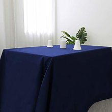 Zdada Navy Blue Square Tablecloth Polyester Fabric
