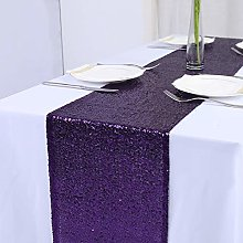 Zdada Purple Sequin Table Runner-12x108-Inch Glitz