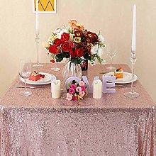 Zdada Rose Gold Sequin Tablecloth - Sparkly