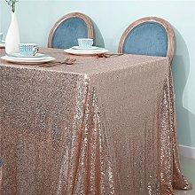 Zdada-Sequin Tablecloth-50 X50 Seamless Rose Gold