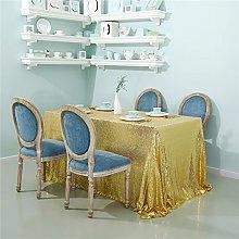 Zdada-Sequin Tablecloth-60 X102 Seamless Gold