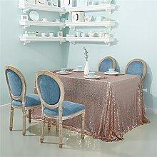 Zdada-Sequin Tablecloth-60 X102 Seamless Rose Gold