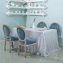 Zdada Sequin Tablecloth 60x126 Inch Sequin Fabric