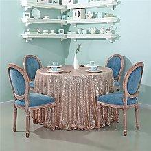 Zdada-Sequin Tablecloth-70 Seamless Rose Gold