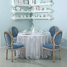 Zdada-Sequin Tablecloth-70 Seamless Silver Sequin