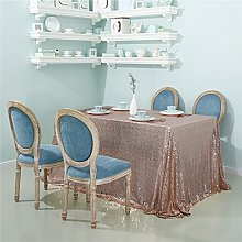 Zdada-Sequin Tablecloth-90 X132 Seamless Rose Gold