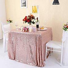 Zdada-Sequin Tablecloth-Rose Gold Seamless Sequin