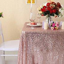 Zdada-Sequin Tablecloth-Rose Gold Sequin