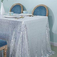 Zdada-Sequin Tablecloth-Silver Rectangle Sequin