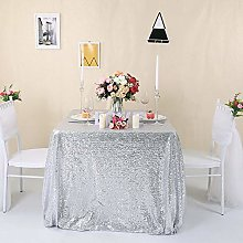 Zdada Silver Sequin Tablecloth Sequin Fabric