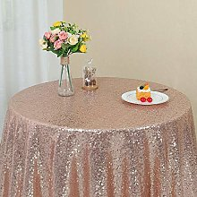 Zdada Sparkly Tablecloth Rose Gold Sequin
