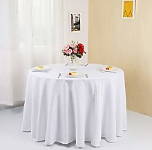 Zdada White 108inch Polyester Tablecloth for