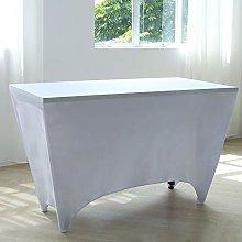 Zdada White Spandex Table Cover 4ft Stretch