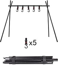 ZDAMN Camping Cooking Tripod Swing Grill Campfire