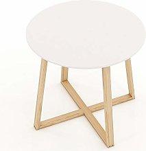 ZDAMN Coffee Table Round Sofa Side End Table White