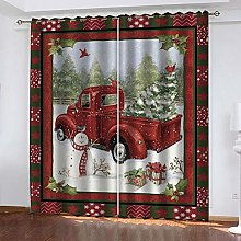 ZDPLL 3D Blackout Curtains Red car Eyelet Thermal