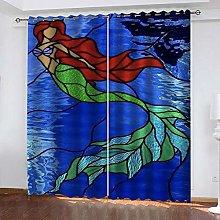 ZDPLL 3D Printed Window Blackout Mermaid Full