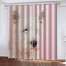 ZDPLL 3D Printed Window Blackout Pink animal dog