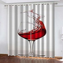 ZDPLL 3D Printed Window Blackout Red wine glass