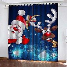 ZDPLL 3D Printed Window Blackout Santa & Elk Full
