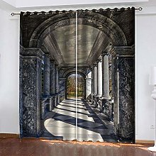 ZDPLL Blackout Curtains 3D corridor Thermal
